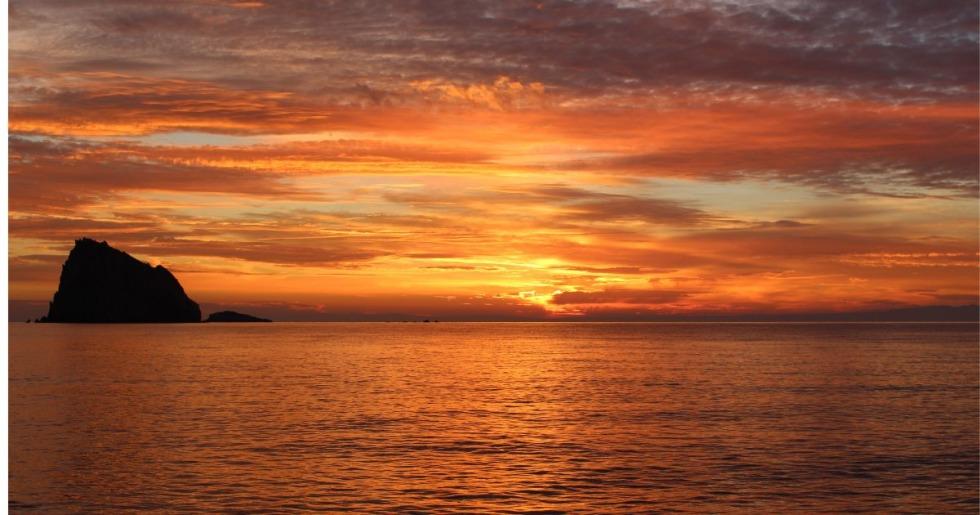 屋久島の夕日