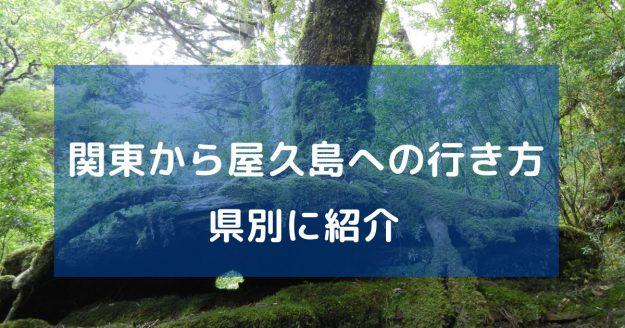 関東から屋久島への行き方