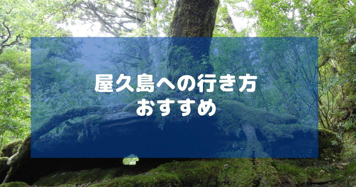 屋久島へのおすすめの行き方