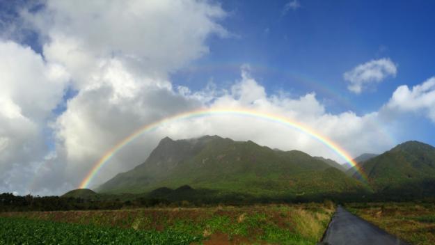屋久島の虹