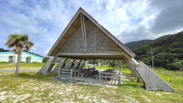 一湊海水浴場屋根のある場所